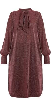 Rachel Comey Upland neck-tie lamé dress