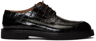 Dries Van Noten Black Croc Derbys