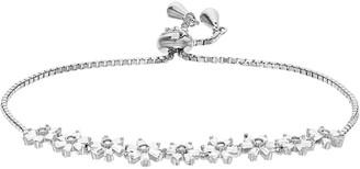 Sterling Silver Fancy Flower Bracelet