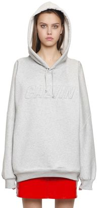 Oversized Embroidered Cotton Sweatshirt $173 thestylecure.com