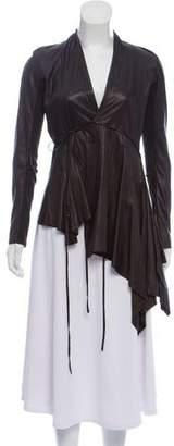 Rick Owens Leather Asymmetric Jacket