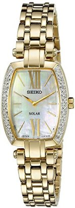 Seiko Women's SUP286 Tressia Analog Display Japanese Quartz Gold Watch $495 thestylecure.com