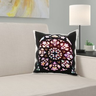 Church's East Urban Home Stained Glass Window Photo From Prague St Vitus Cathedral Stain Glass Pillow Cover East Urban Home