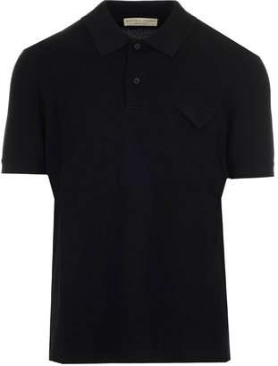 Bottega Veneta Pique Short Sleeve Polo Shirt