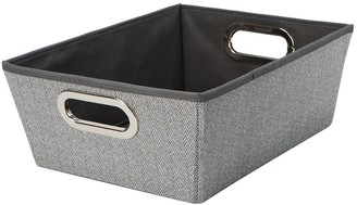 Simplify Herringbone Medium Shelf Storage Tote
