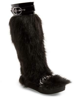 Jeffrey Campbell Oh Yeah Faux Fur Knee High Boot