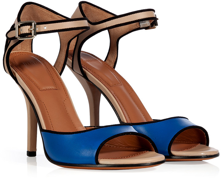 Givenchy Nude/Blue Leather Sandals