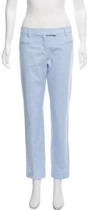 True Royal Mid-Rise Straight-Leg Pants