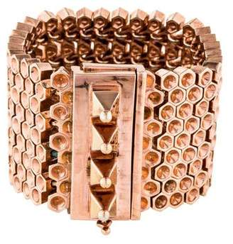 Mawi Honeycomb Pyramid Cuff
