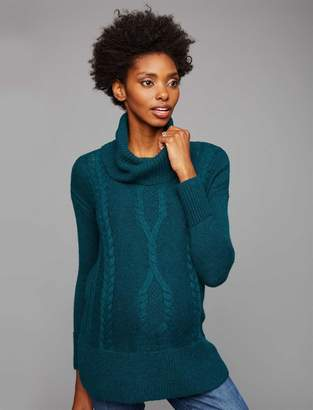 A Pea in the Pod Cowl Cable Knit Maternity Sweater