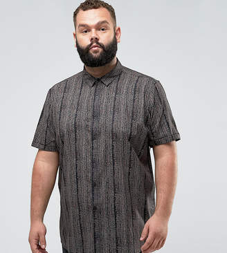 Asos Plus Regular Fit Vintage Print Shirt