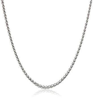 SPIGA 14k Gold Italian 1mm Square Diamond-Cut Wheat Chain Necklace