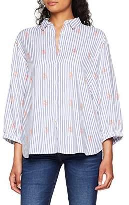 Lee Women's Bell Sleeve Shirt Blouse, (Sky Blue Eq), Medium