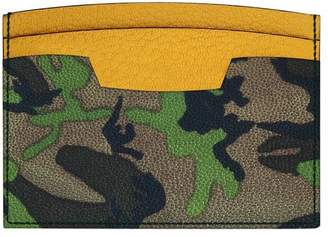 MAiSON TAKUYA Camouflage Leather Credit Card Case