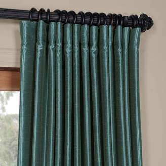 Bahari House of Hampton Textured Faux Silk Extra Wide Blackout Single Curtain Panel