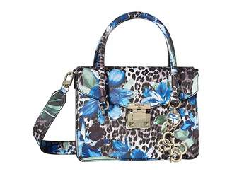 GUESS Orchid Leo Flap Satchel Satchel Handbags
