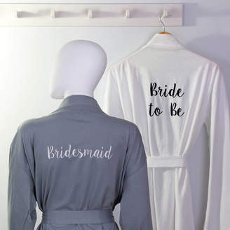 Duncan Stewart Personalised Bridal Party Jersey Dressing Gown