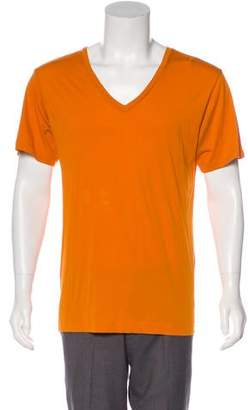 Dries Van Noten V-Neck Knit T-Shirt