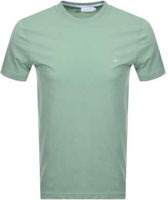 Calvin Klein Small Logo T Shirt Green