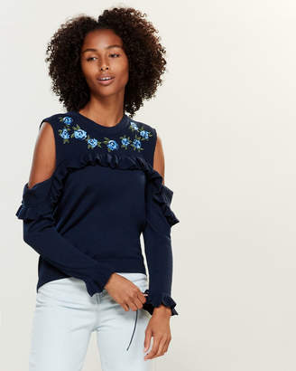 The Kooples Embroidered Sleeveless Knit Top