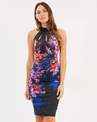 Karen Millen Floral Haltnerneck Pencil Dress