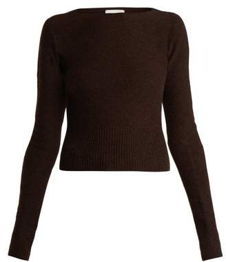 Lemaire - Lambswool Crew Neck Sweater - Womens - Brown