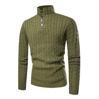 Mini Men's Long Sleeved Autumn and Winter Turtleneck Fashion Sweater (S,)
