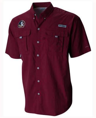 Columbia Men Florida State Seminoles Bahama Short Sleeve Button Up Shirt