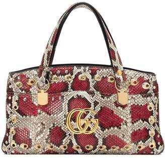 Gucci Arli large snakeskin top handle bag