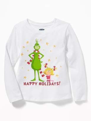 "Old Navy Dr. Seuss' The Grinch ""Happy Holidays!"" Tee for Toddler Girls"