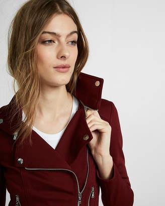 Express Removable Collar Knit Moto Jacket