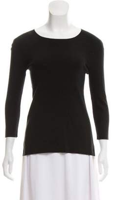 Theyskens' Theory Silk-Blend Knit Top