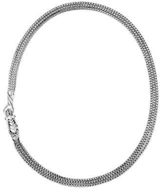 John Hardy Sterling Silver Legends Naga Triple Chain Necklace with Sapphire Eyes