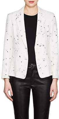 Derek Lam WOMEN'S SPLATTER-PRINT CREPE TWO-BUTTON BLAZER
