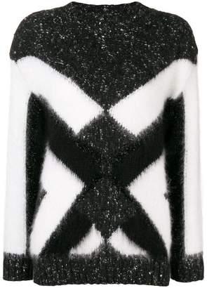 Alberta Ferretti geometric Intarsia sweater