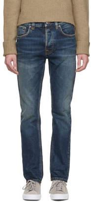 Nudie Jeans SSENSE Exclusive Indigo Worn Fearless Freddie Jeans