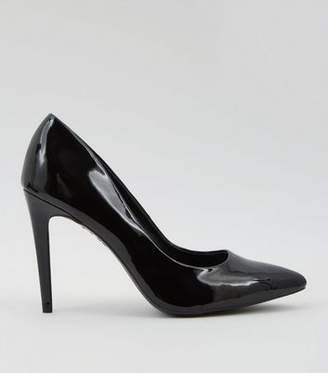 7a669338e0e Black Patent Pointed Court Shoe - ShopStyle UK