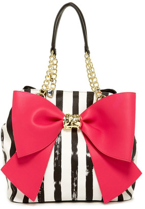 Betsey Johnson Bow And Arrow Faux Leather Tote $108 thestylecure.com