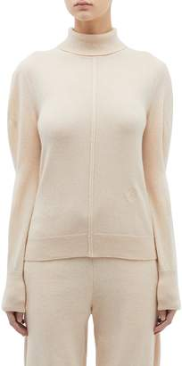 Chloé Front seam cashmere wool turtleneck sweater