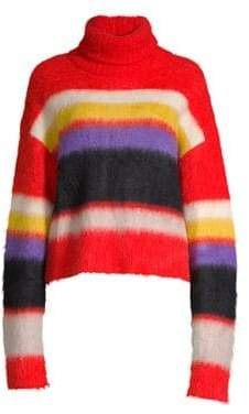 Diane von Furstenberg Chunky Striped Turtleneck Sweater
