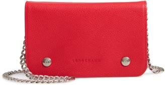Longchamp Le Foulonne Leather Wallet on a Chain