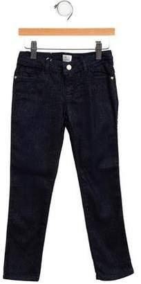 Armani Junior Girls' Metallic-Accented Jeans w/ Tags