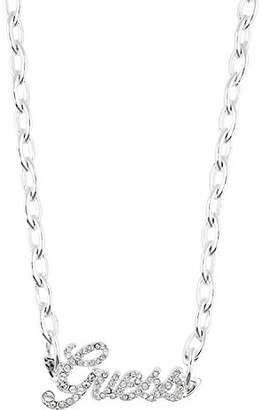 GUESS Women Silver Pendant Necklace of Length 42cm UBN81001