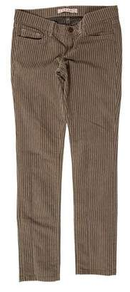 J Brand Striped Low-Rise Jeans