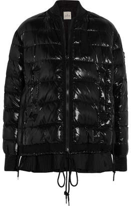 Moncler Lucy Quilted Patent-shell Down Jacket - Black