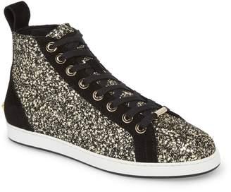 Jimmy Choo Colt Glitter High Top Sneaker
