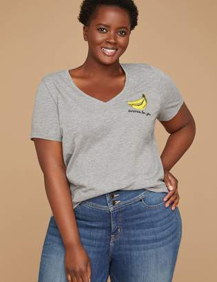 Bananas For You Graphic V-Neck Tee