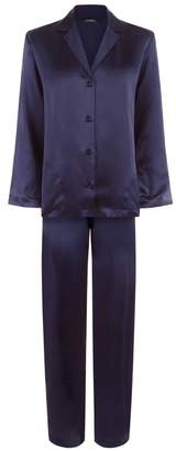 La Perla Silk Midnight Blue Silk Pyjama Set