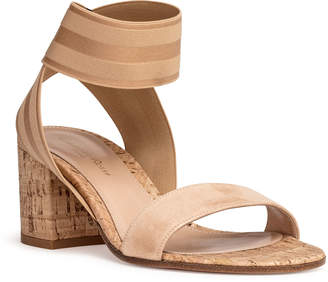 0487a1a27d52 Gianvito Rossi Nude suede elastic sandals