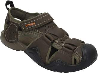 Crocs Men's Leather Fisherman Sandals - Swiftwater